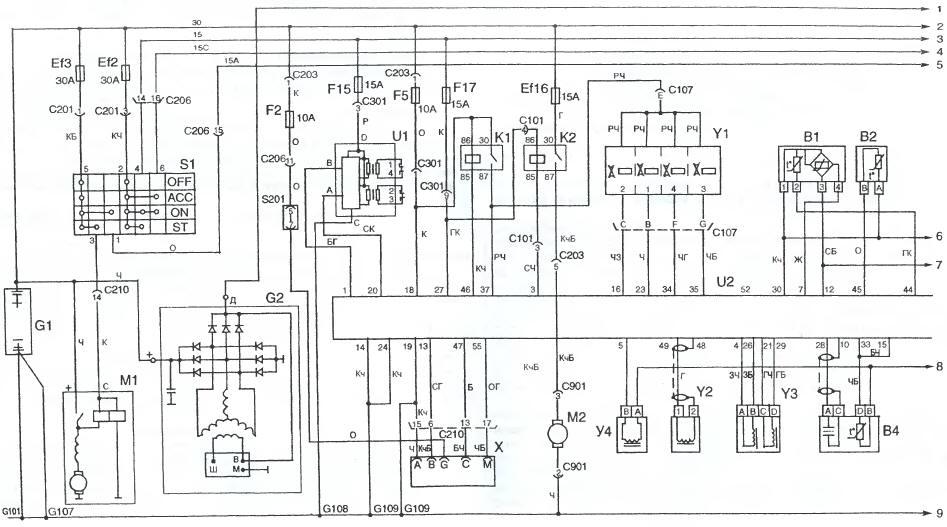 ...схемы принципиальная схема электрооборудования автомобиля заз 10206 двигатель заз 968м запорожец Интерактивная...